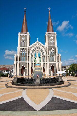 Ancient Catholic Church, Janthaburi Province, Thailand Stock Photo