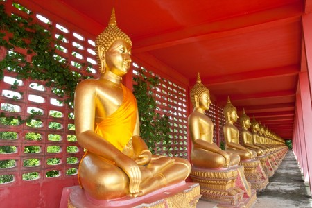 Perspective Buddha,  Thasung Temple, Uthaithani Province, Thailand