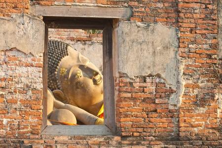 Reclining Buddha, Historical Park Ayutthaya, Thailand  photo