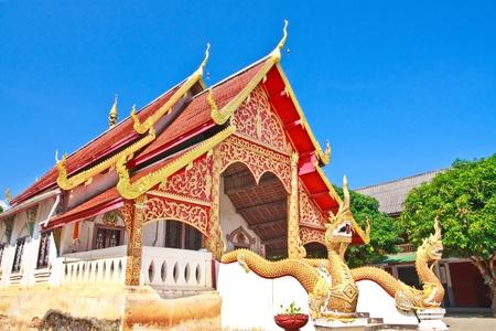 sanctuary thai temple, ChiangMai Province, Thailand  Stock Photo