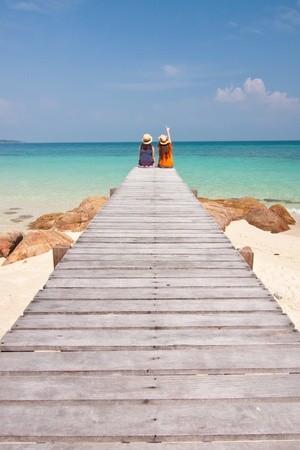 Relax Holiday, Munnork Island, Rayong Province, Gulf of Thailand Stock Photo