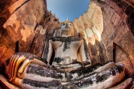 Big Buddha at Srichum Temple. Sukhothai Province, Thailand  Stock Photo