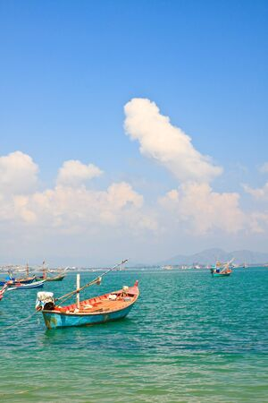 The Fishing Thai Boat and Sea Scape, Thailand