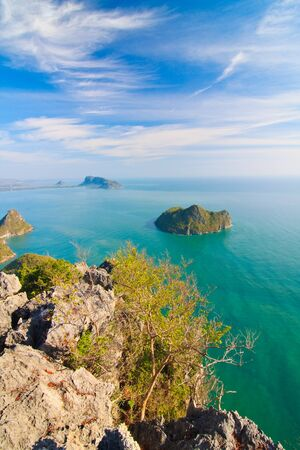 Bird eye view, The Beauiful Sea scape, Thailand photo