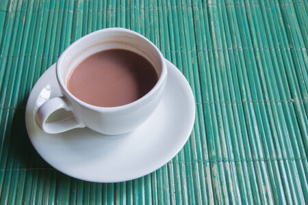 Cocoe with white cup. Stock Photo