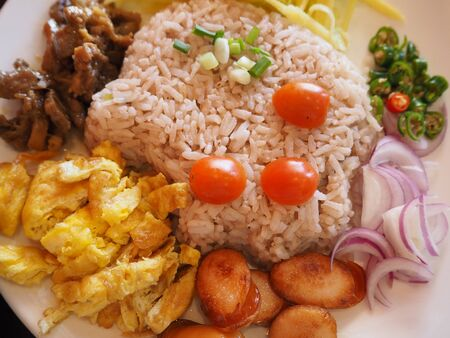 fried rice and vegetables