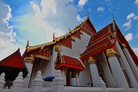 Wihan Phra Mongkhon Bophit in Ayutthaya Province, Thailand.