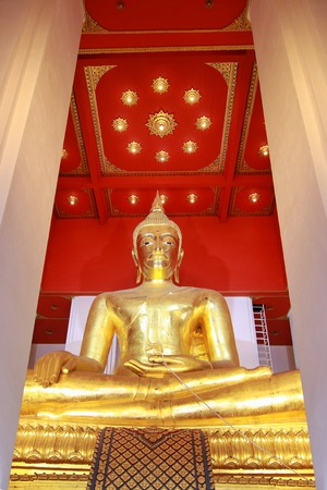Phra Mongkhon Bophit enshrined in Wihan Phra Mongkhon Bophit at Ayutthaya, Thailand.