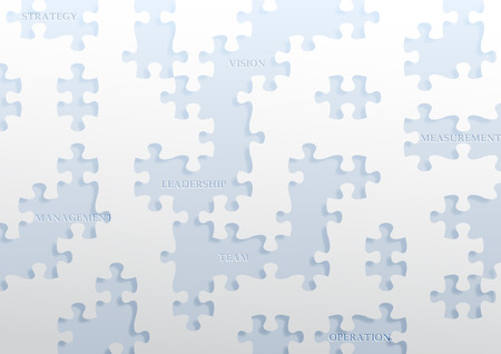Paper with jigsaw puzzle pieces illustration