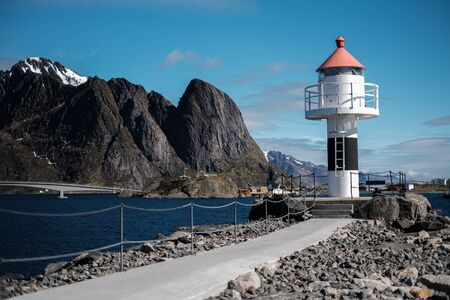Lighthouse in Norway. Collection lighthouses Stockfoto