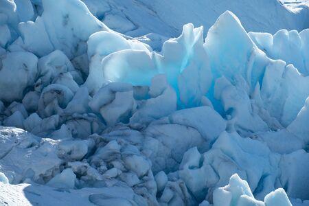 Glacier, in north Norway. The Svartisen