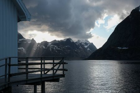 Neverdalsfjell mountain over Lysefjord, Norway. Natural scandinavian landscape
