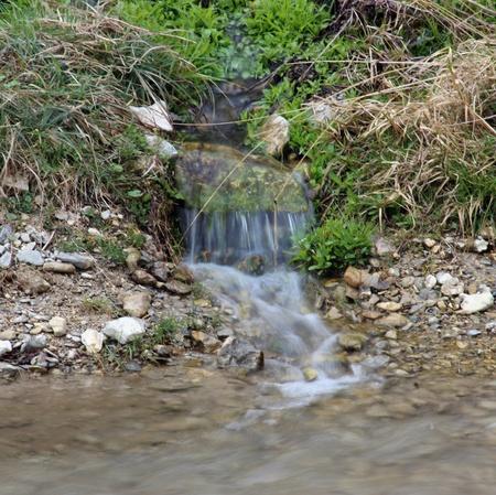 tributary: Small tributary waterfall