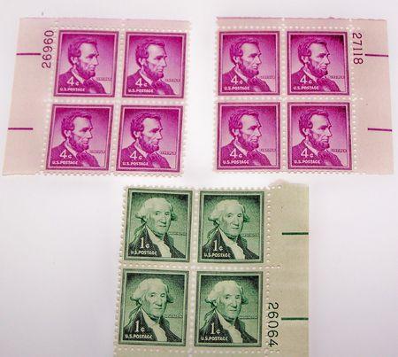 우표, 링컨 및 워싱턴