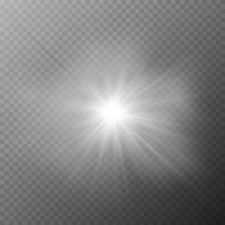 Glow transparent glitter, spark, sun flash.