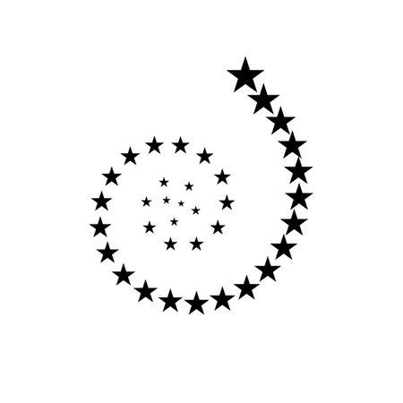 Fireworks star spiral stream. Rising stars. 向量圖像