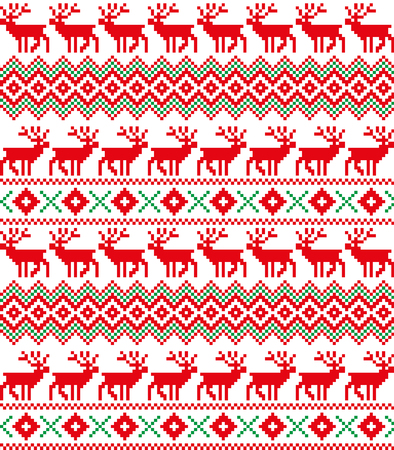 New Year's Christmas Pattern Pixel For Print Simple Christmas Pattern