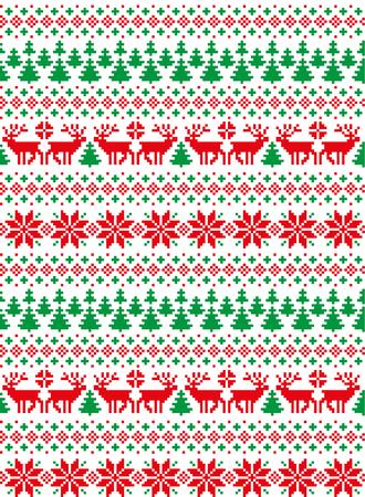 새해 크리스마스 패턴 픽셀 인쇄 스톡 콘텐츠
