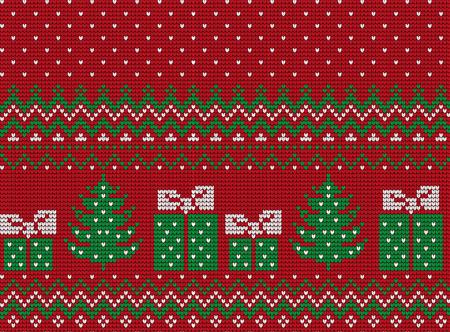 Gebreide Kerstmis en Nieuwjaar patroon