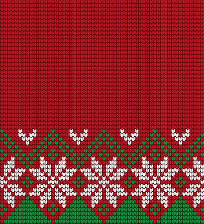 Knitted Christmas and New Year seamless pattern.