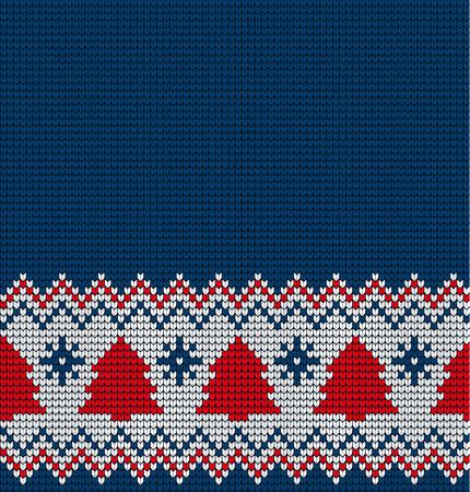 인쇄에 대 한 니트 크리스마스와 새 해 원활한 패턴입니다. 일러스트