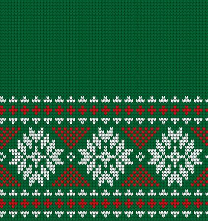 Gebreide Kerstmis en Nieuwjaar patroon om af te drukken. Stockfoto - 89942560