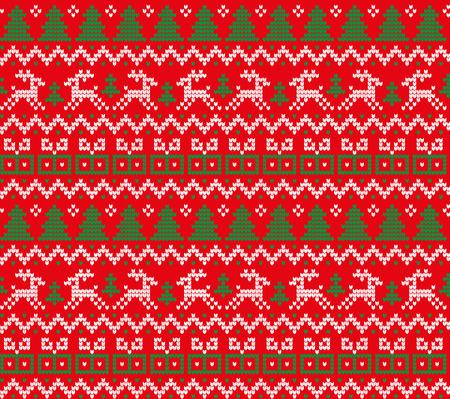 Dzianinowy wzór świąteczno-noworoczny do druku Ilustracje wektorowe
