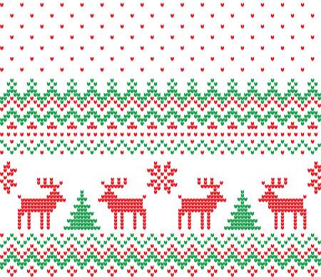 Christmas symbols pattern. Illustration