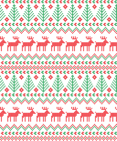 Knitted Christmas elements pattern.