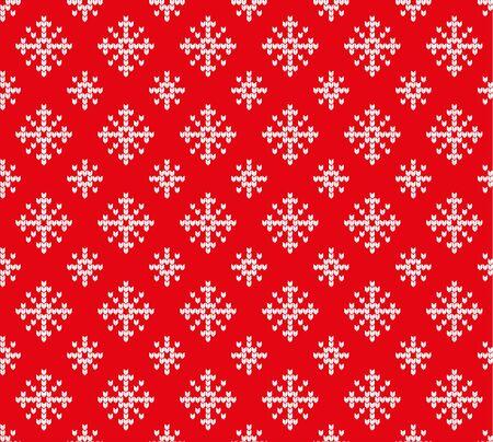 Snowflakes pattern. Ilustrace