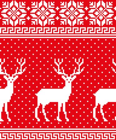 Christmas symbols pattern. Ilustrace