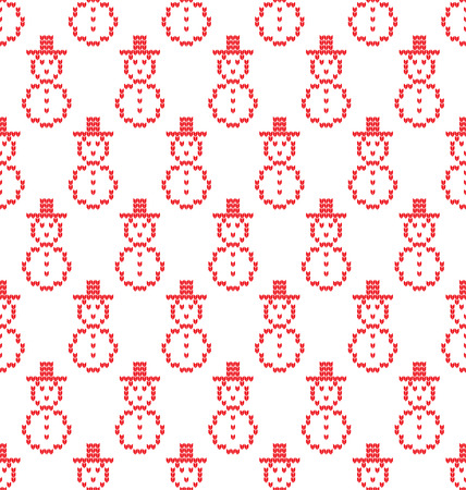 Knitted Christmas and New Year pattern for print. Illustration