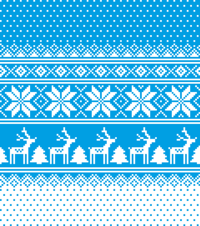 New Years Christmas pattern pixel for print 2018 Vector illustration.