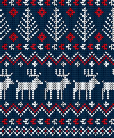 인쇄용 니트 크리스마스와 새해 패턴