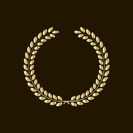 Laurel wreath  symbol of victory and power flat icon for websites.