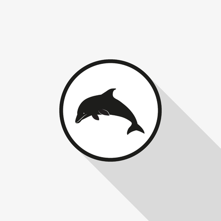 Vector icon dolphin illustration.