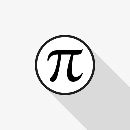 Vector sign Pi with a long shadow