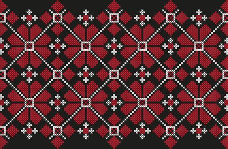 embroidered cross-stitch ethnic Ukraine pattern vector EPS Stock Illustratie