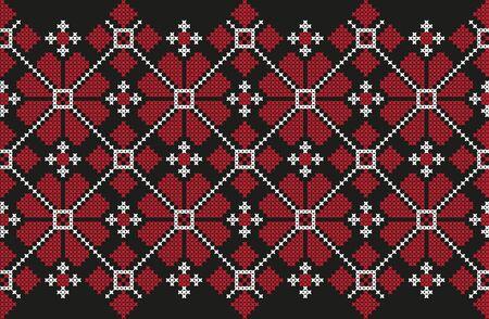 embroidered cross-stitch ethnic Ukraine pattern vector EPS Vettoriali