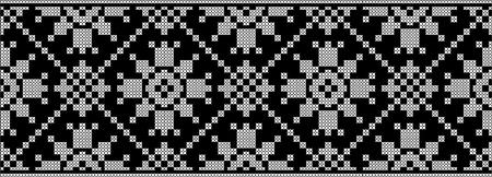 Embroidered cross-stitch ethnic Ukraine pattern vector design Ilustração
