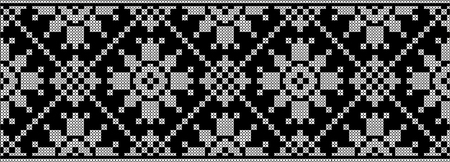 Embroidered cross-stitch ethnic Ukraine pattern vector design Illustration