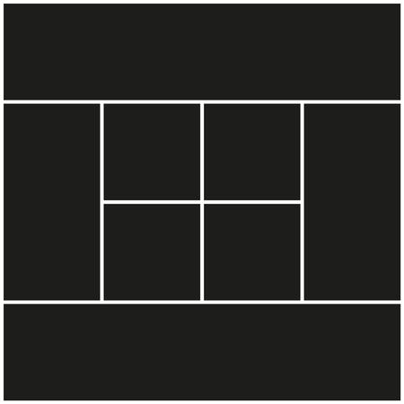 Vector frames photo collage for print illustration