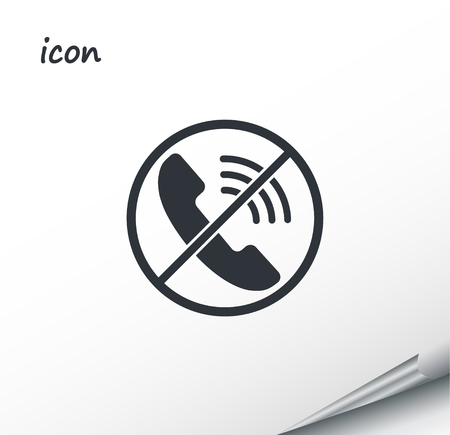 Vector icon Phone on a wrapped silver sheet
