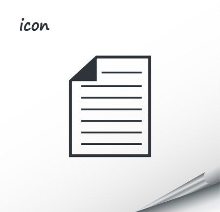 Vector icon document on a wrapped silver sheet