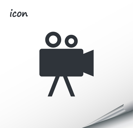 vector icon Camcorder on a wrapped silver sheet