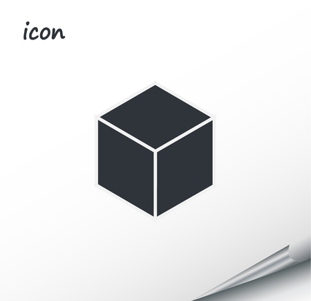 Vector icon box on a wrapped silver sheet EPS
