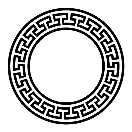 circular vector greek ornament template royalty free cliparts
