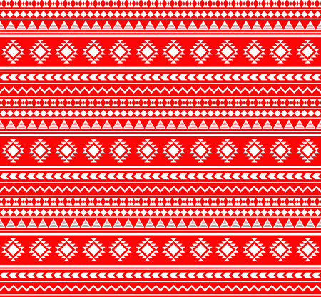 Vector seamless Aztec pattern, geometric pattern in red color.