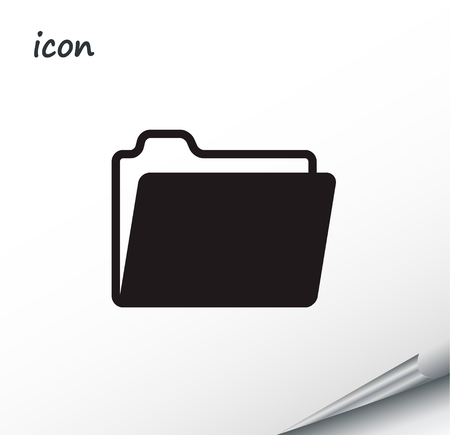 Vector icon folder on a wrapped silver sheet EPS