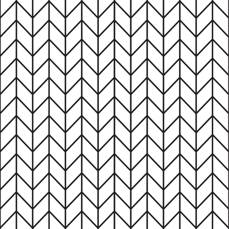 Black and white zigzag vector seamless pattern.